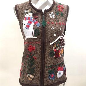 Bobbie Brooks Christmas Sweater Vest